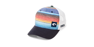 Costa Baja Stripe Trucker - Blue