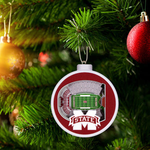 MSU Bulldogs 3D Stadium View Ornament