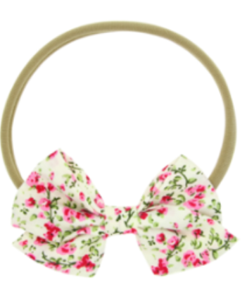 FLORAL PATTERNS HAIR BOW HEADBAND