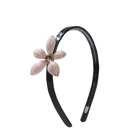 BLOOMING LADY FLOWER HEADBAND (CREAMY PINK) - QKiddo.com