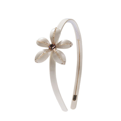 BLOOMING LADY FLOWER HEADBAND (CREAM) - QKiddo.com