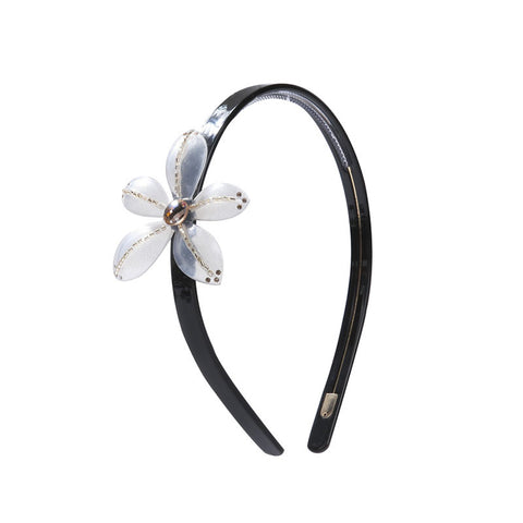 BLOOMING LADY FLOWER HEADBAND (TRANSPARENT WHITE) - QKiddo.com