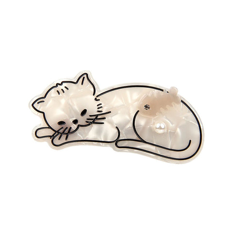 FISH DREAMER WHITE KITTEN (DUCK HAIR CLIP) - QKiddo.com
