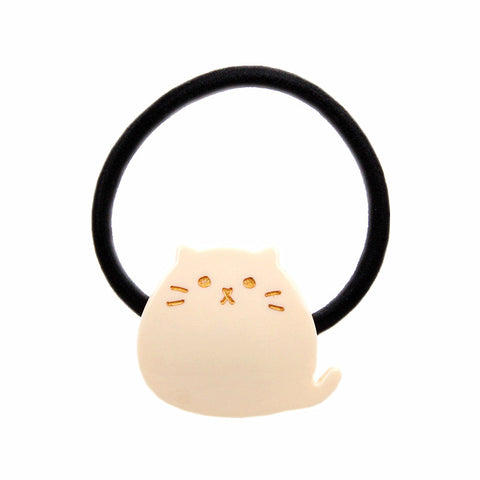 """PHAT"" CAT HAIR TIE (WHITE) - QKiddo.com"