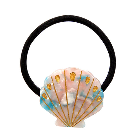 TREASURE SHELL (PONYTAIL HOLDER, PINKY BLUE) - QKiddo.com