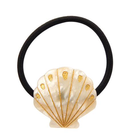 TREASURE SHELL (PONYTAIL HOLDER, CREAM) - QKiddo.com