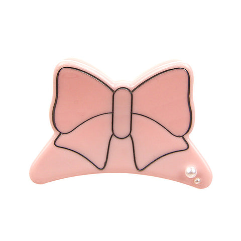 BUTTERFLY BOW FRENCH JAW CLIP (PINK) - QKiddo.com