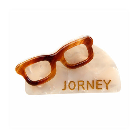 """JOURNEY"" FRENCH JAW CLIP (WHITE) - QKiddo.com"