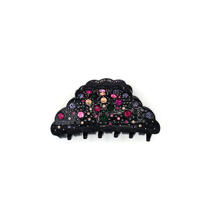 RHINESTONE FRENCH JAW CLIP (GALAXY BLACK) - QKiddo.com