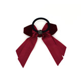VELVET VINTAGE HAIR BOW TIE (RED) - QKiddo.com