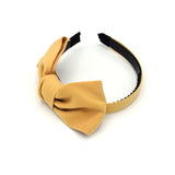 CHIFFON LARGE BOW HEADBAND (CREAM) - QKiddo.com