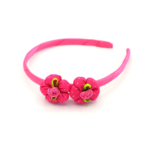 BABY FLOWER HEADBAND (HOT PINK) - QKiddo.com