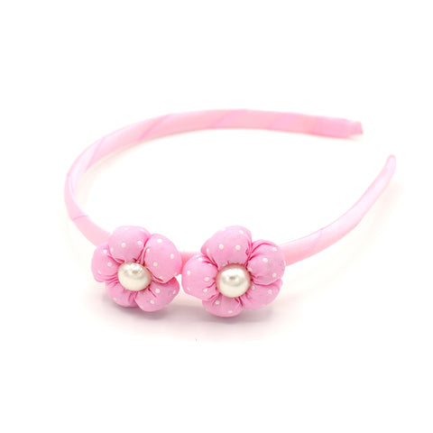 BABY FLOWER HEADBAND (LIGHT PINK) - QKiddo.com