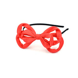 TWIST WIRED BOW HEADBAND (RED) - QKiddo.com