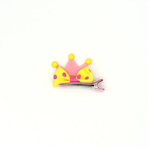 PRINCESS CROWN BOW TIE HAIR CLIP - QKiddo.com