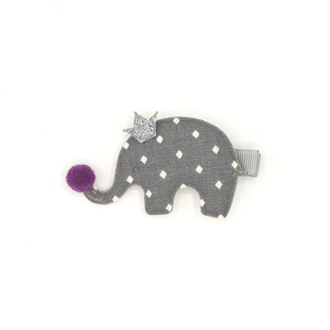 ELEPHANT PRINCESS HAIR CLIP (DIAMOND) - QKiddo.com