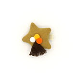 POM POM PUFFY STAR HAIR CLIP (CANARY YELLOW) - QKiddo.com