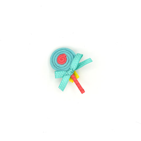 SWEET LOLLIPOP HAIR BOW CLIP (BLUE) - QKiddo.com