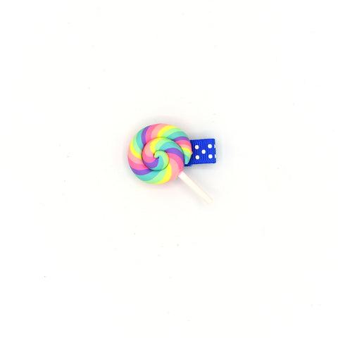 RAINBOW LOLLIPOP HAIR CLIP - QKiddo.com