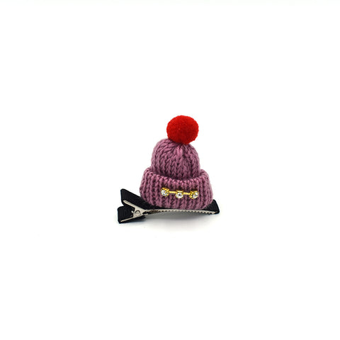 RHINESTONE MINI HAT HAIR CLIP (PURPLE) - QKiddo.com