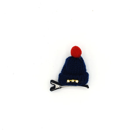 RHINESTONE MINI HAT HAIR CLIP (BLUE) - QKiddo.com