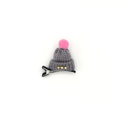 RHINESTONE MINI HAT HAIR CLIP (GREY) - QKiddo.com