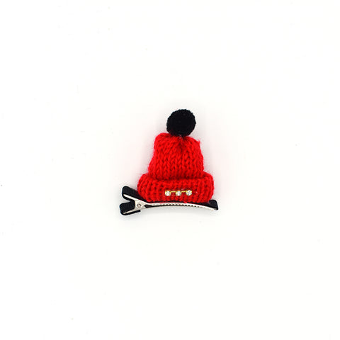 RHINESTONE MINI HAT HAIR CLIP (RED) - QKiddo.com