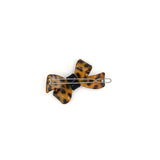 GOLDEN BROWN LEOPARD FRENCH HAIR BOW CLIP - QKiddo.com