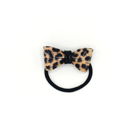 AMUR LEOPARD BOW HAIR TIE (BROWN) - QKiddo.com