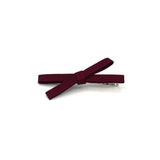 HAIR BOW CLIP (BURGUNDY) - QKiddo.com