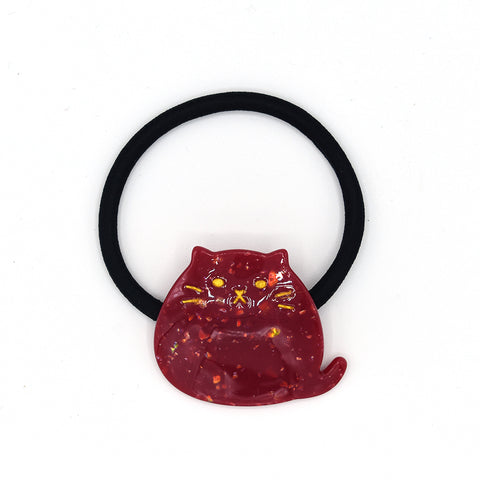 """PHAT"" CAT HAIR TIE (RED) - QKiddo.com"