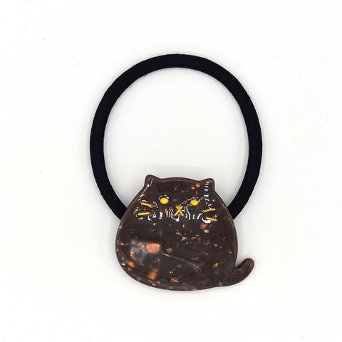 """PHAT"" CAT HAIR TIE (BROWN) - QKiddo.com"