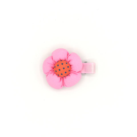 BABY FLOWER HAIR CLIP (BABY PINK) - QKiddo.com