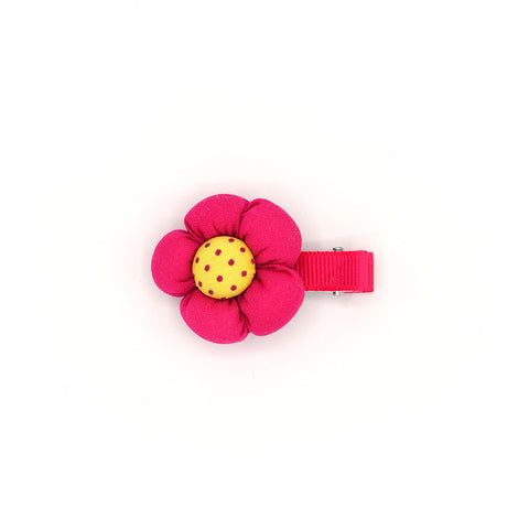 BABY FLOWER HAIR CLIP (HOT PINK) - QKiddo.com