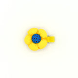 BABY FLOWER HAIR CLIP (YELLOW) - QKiddo.com