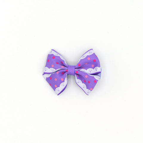 BOW TIE HAIR CLIP (LACE PATTERNS) - QKiddo.com