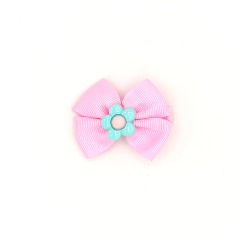 BOW TIE HAIR CLIP (PINK) - QKiddo.com