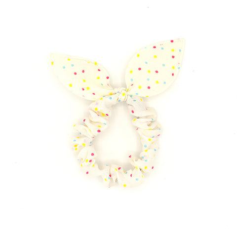 BUNNY EARS HAIR TIE (COLORFUL POLKA DOTS) - QKiddo.com