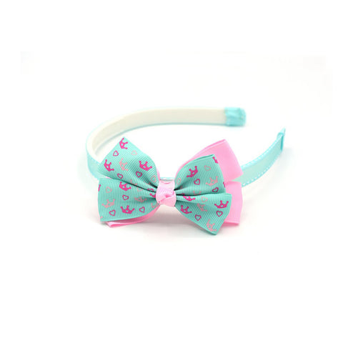 CROWN PATTERN HAIR BOW HEADBAND - QKiddo.com