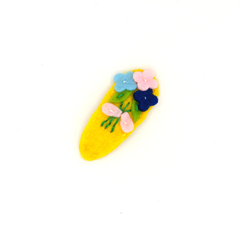 FELT SNAP HAIR CLIP (COLORFUL FLOWERS) - QKiddo.com