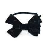 VELVET BLACK POP UP BOW HEADBAND - QKiddo.com
