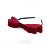 VELVET DOUBLE POP BOW HEADBAND (RED) - QKiddo.com