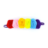 RAINBOW WOOL FELT FLOWER HEADBAND - QKiddo.com