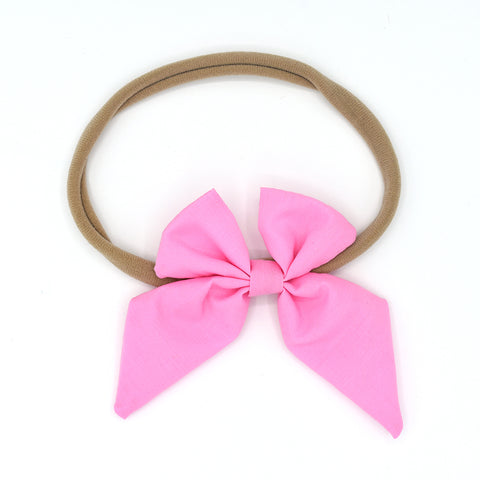 LARGE SAILOR HAIR BOW HEADBAND (PINK) - QKiddo.com