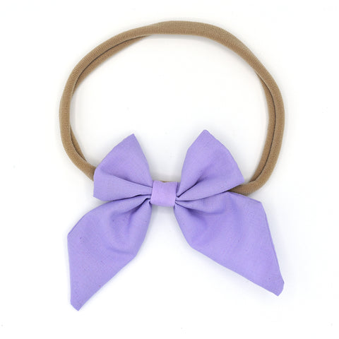 LARGE SAILOR HAIR BOW HEADBAND (PURPLE) - QKiddo.com