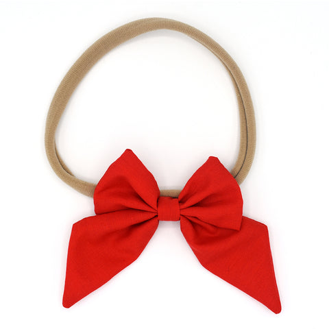 LARGE SAILOR HAIR BOW HEADBAND (RED) - QKiddo.com
