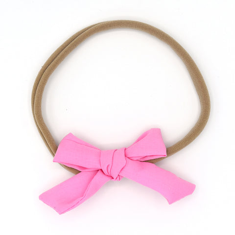 PINK HAIR BOW HEADBAND - QKiddo.com