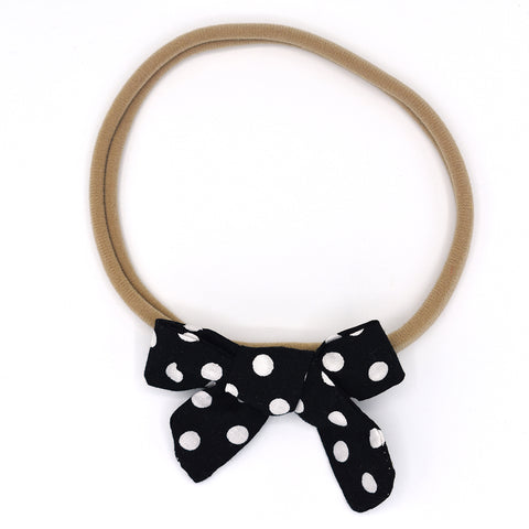 POLKA DOTS HAIR BOW HEADBAND - QKiddo.com