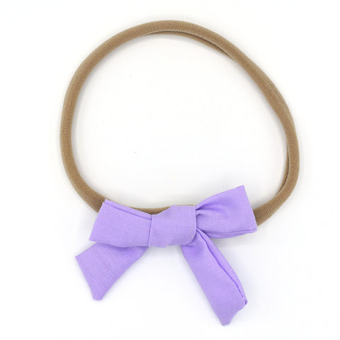 PURPLE HAIR BOW HEADBAND - QKiddo.com