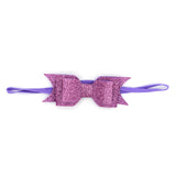 LAYERED GLITTER BOW HEADBAND (PURPLE) - QKiddo.com